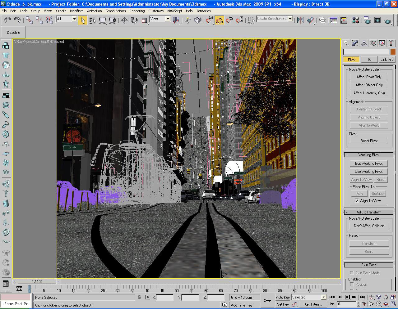 making of davis street wireframe