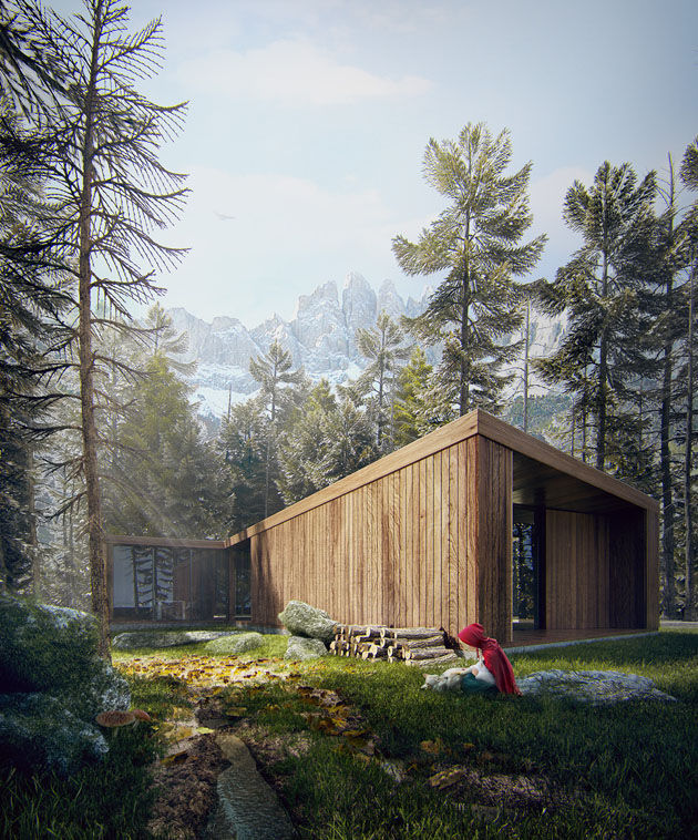 Making of Red Riding Hood Modern House-41